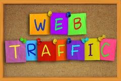 Concept d'Internet du trafic de Web Image libre de droits