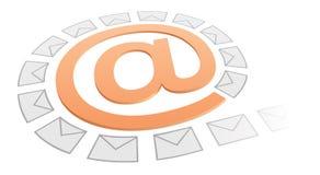 Concept d'Internet : flot d'email Images libres de droits