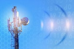 Concept d'Internet par radio sans fil 5G 4G, technologies du mobile 3G Photo libre de droits