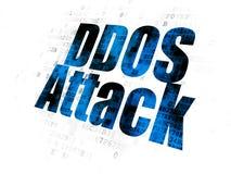 Concept d'intimité : Attaque de DDOS sur le fond de Digital Photo libre de droits