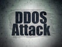 Concept d'intimité : Attaque de DDOS sur le fond de papier de données numériques Photos libres de droits
