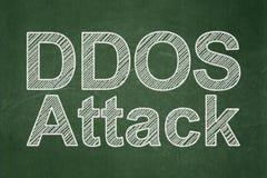Concept d'intimité : Attaque de DDOS sur le fond de tableau Photo libre de droits