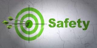 Concept d'intimité : cible et sécurité sur le fond de mur Images libres de droits