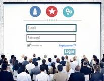Concept d'intimité de protection par mot de passe d'username de sécurité d'identifiez-vous images stock
