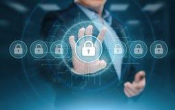 Concept d'intimité de technologie d'affaires de protection des données de sécurité de Cyber photographie stock libre de droits
