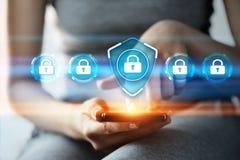 Concept d'intimité de technologie d'affaires de protection des données de sécurité de Cyber images libres de droits