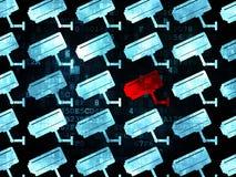 Concept d'intimité : icône d'appareil-photo de télévision en circuit fermé sur Digital Image libre de droits