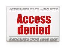 Concept d'intimité : le titre de journal Access a nié Photos libres de droits
