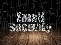 Concept d'intimité : Sécurité d'email dans l'obscurité grunge Photo libre de droits