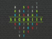 Concept d'intimité : sécurité de mot dans la solution Photos stock