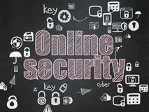 Concept d'intimité : Sécurité en ligne sur le conseil pédagogique Photographie stock libre de droits