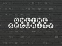 Concept d'intimité : Sécurité en ligne sur le mur Photos stock