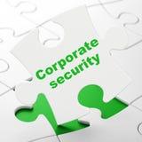 Concept d'intimité : Sécurité d'entreprise sur le fond de puzzle Photographie stock libre de droits