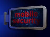 Concept d'intimité : Sécurité mobile sur le fond de panneau d'affichage Photos libres de droits