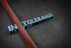 Concept d'intolérance Photographie stock