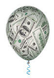 Concept d'investissement d'argent avec le ballon illustration de vecteur