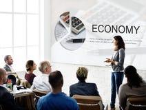 Concept d'investissement d'argent de commerce d'économie image stock