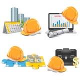Concept d'investissement de construction de vecteur Photos stock