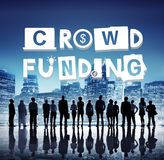Concept d'investissement de contribution de collecte de fonds de Crowdfunding photos libres de droits
