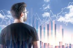 Concept d'investissement et d'analytics photo stock