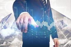 Concept d'investissement et de gestion image stock
