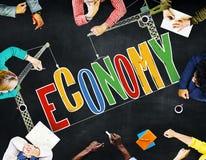 Concept d'investissement productif de comptabilité financière d'économie Photos stock