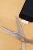 Concept d'IOS 5 de synchro de Wifi Photos libres de droits