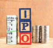 Concept d'IPO Photo libre de droits
