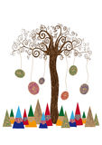 Concept d'isolement d'arbre d'art illustration libre de droits