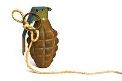 Concept d'isolement de grenade à main sur le blanc Image libre de droits