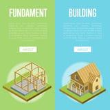 Concept 3d isométrique de génie architectural illustration stock