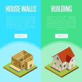 Concept 3d isométrique de génie architectural illustration libre de droits