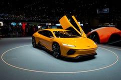 Concept d'Italdesign GTZero à Genève 2016 Images libres de droits
