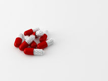 Concept of 3d maded pills Royalty Free Stock Photography