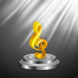 Concept of 3D musical note. Stock Photos