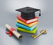 Concept d'obtention du diplôme Photographie stock libre de droits