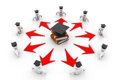 Concept d'obtention du diplôme Photo libre de droits