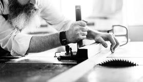 Concept d'Occupation Craftsmanship Carpentry de bricoleur photographie stock