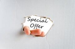 Concept d'offre spéciale Photo stock