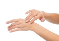 Concept d'ongle et de soins de la peau Photo stock