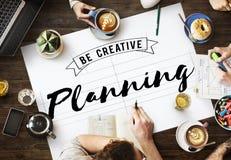 Concept d'opération d'objection de guide de conception de planification photos libres de droits