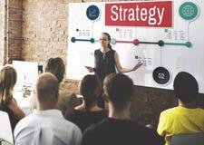 Concept d'opération de processus de planification de vision de stratégie Images libres de droits