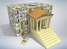 Concept 3D d'opérations bancaires Images libres de droits