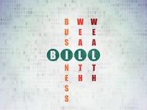 Concept d'opérations bancaires : Bill dans le jeu de mots croisé Photographie stock libre de droits