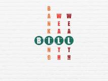 Concept d'opérations bancaires : Bill dans le jeu de mots croisé Image libre de droits