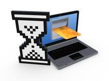 Concept d'opérations bancaires d'Internet. Images libres de droits