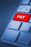 Concept d'opérations bancaires en ligne Photos libres de droits