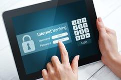 Concept d'opérations bancaires d'Internet Images stock