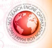 Concept d'optimisation de moteur de SEO Search avec des conceptions abstraites illustration de vecteur