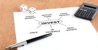 Concept d'options d'investissement Image stock